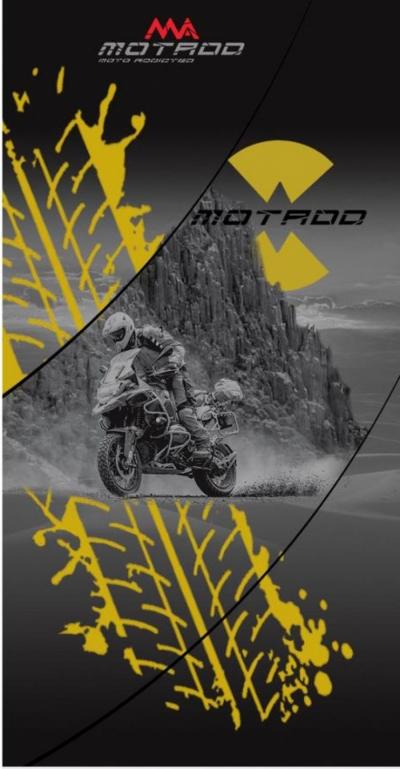 Buff / Bandana BMW adventure geel
