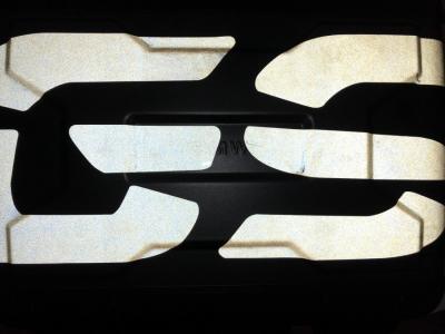 effect van reflecterende versie in donker