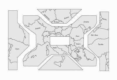 Set protectiestickers variokoffers wereldkaart