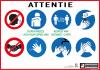 Corona waarschuwing in Pictogrammen